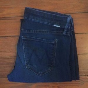 (Mother) the looker style, dark wash skinny jeans